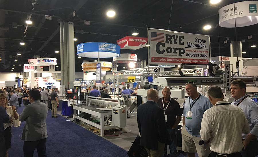 the machinery section of Coverings 2018