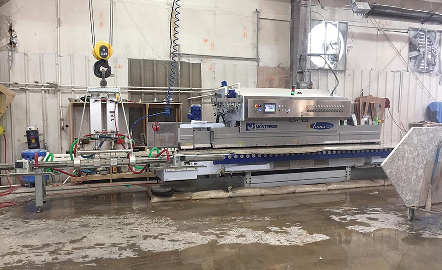 Montressor Luna 740S edge polishing line