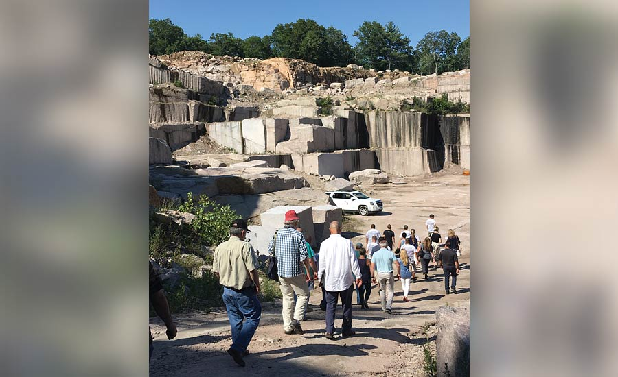 articipants were led down into the quarry