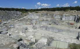 Virginia Mist granite quarry