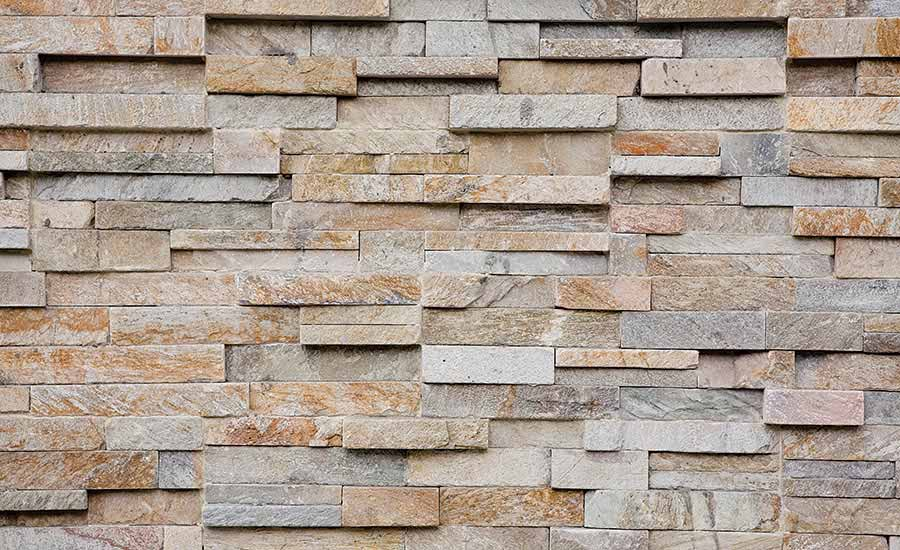 Natural stone veneer is heavy