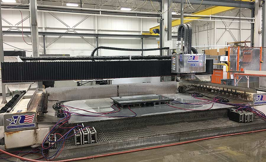 Two Northwood CNC stoneworking centers