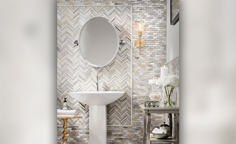 bathrooms with more eclectic designs and patterns