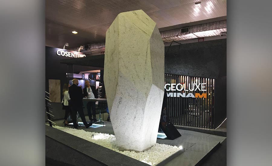 large and unique stone displays