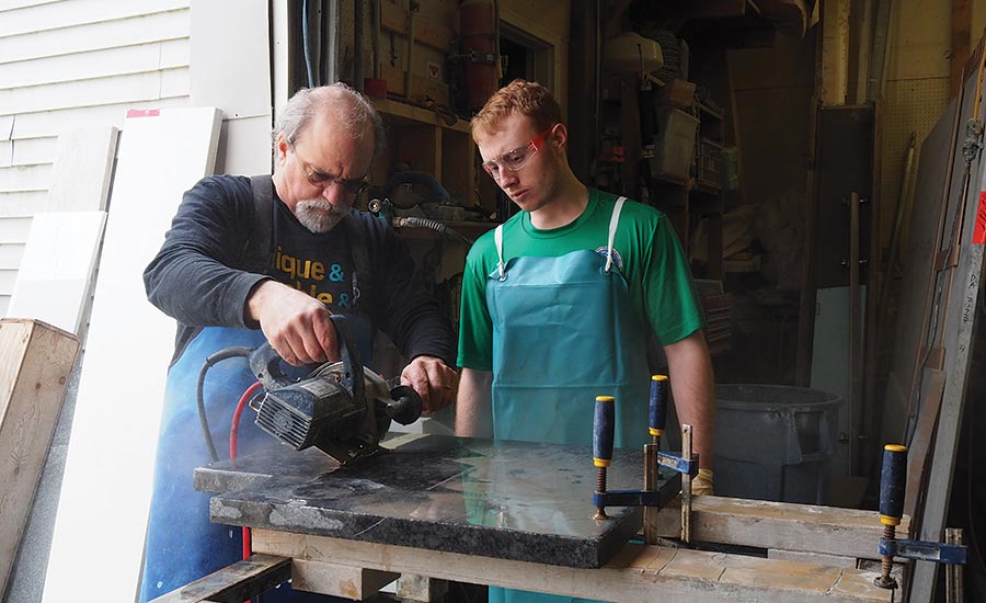 Stone fabrication shop offers real-life experience