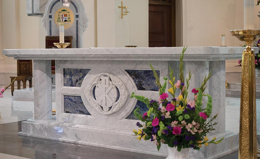 New slab marble altar for the Cathedral