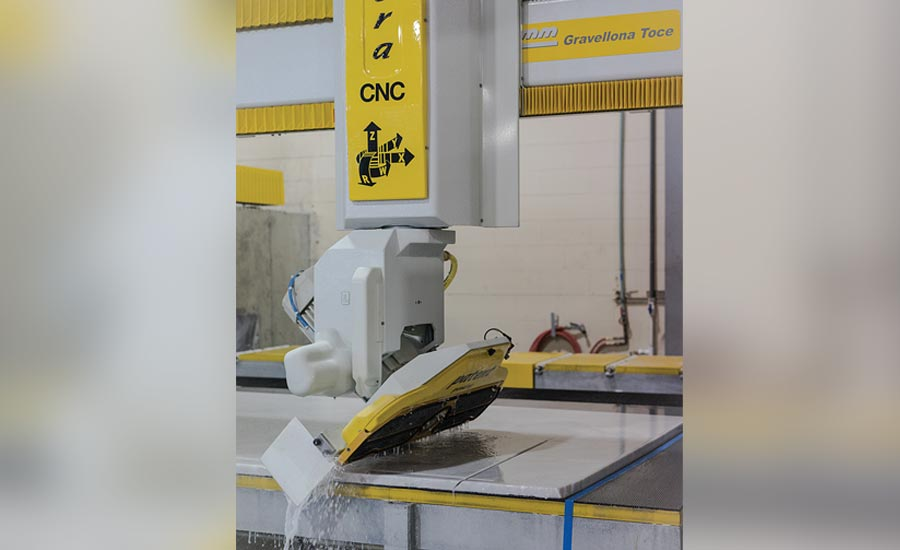 CNC technology used for stonework
