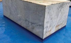 Marble restoration by Matt LoGiudice of Dynamic Stone Care LLC