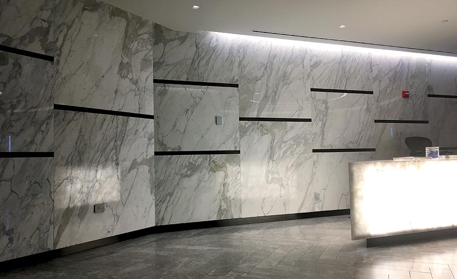 Ten Foot Tall Gauged Porcelain Tile Panels
