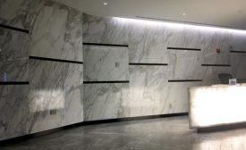 Ten-foot-tall gauged porcelain tile panels