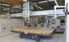 The GLS Viper 4.0 bridge sawing machine