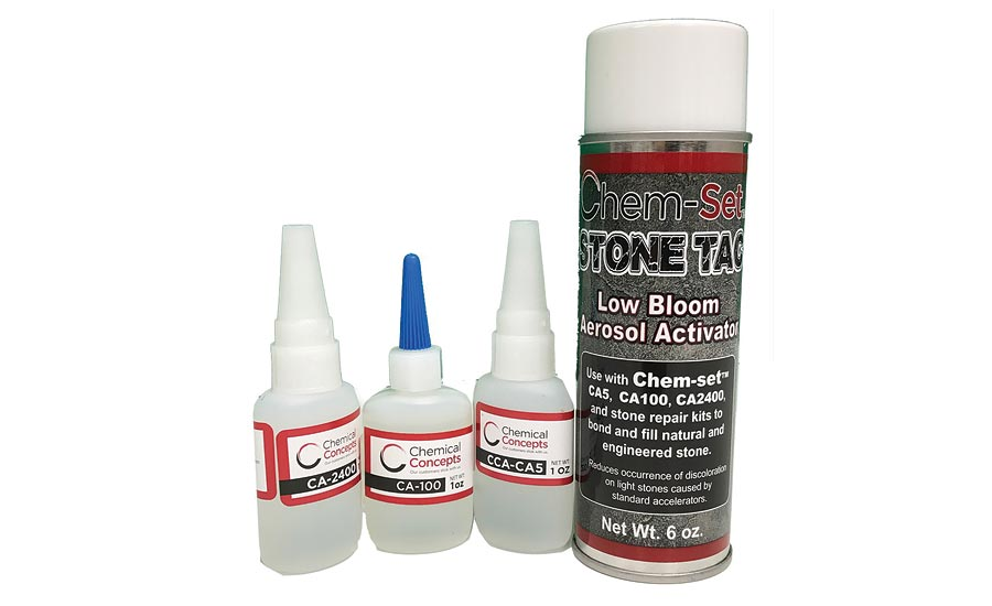 "Chem-Set CCA802 ""Low Bloom"" CA Chip Repair Kit- Chemical Concepts"