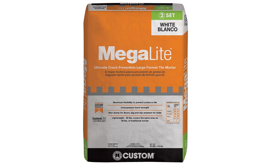 MegaLite® Ultimate Crack Prevention Large Format Tile Mortar- Custom Building Products