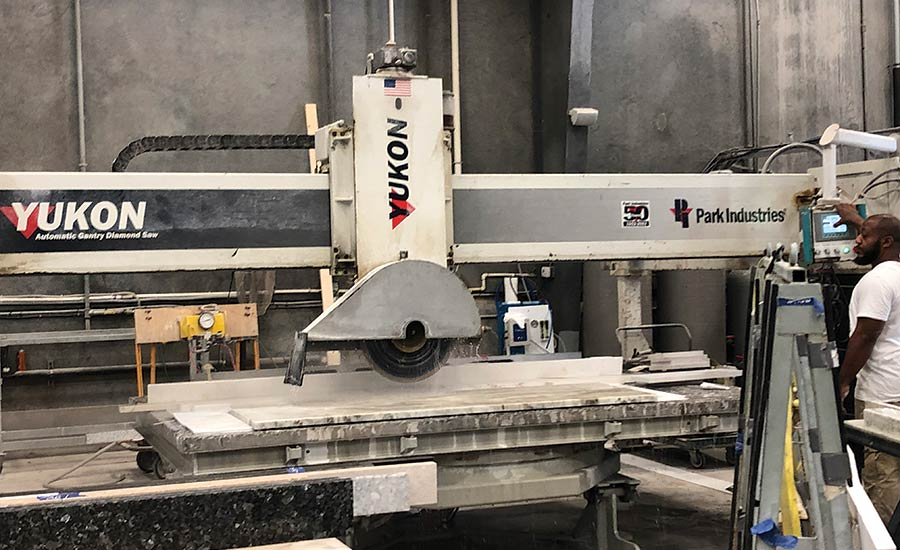 dual-table Fusion saw/waterjets from Park Industries