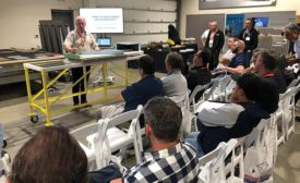 crowd of fabricators at Intermac's Fall Open House