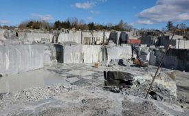 New England Stone's Jet Mist granite site in Rapidan, VA