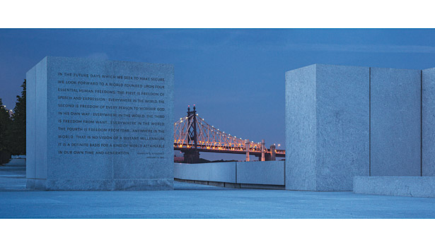 Franklin D. Roosevelt Four Freedoms Park; Welfare Island, East River, New York, NY