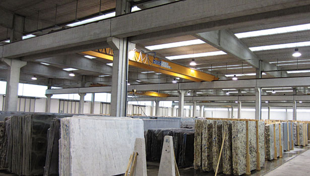 large inventory of finished slabs