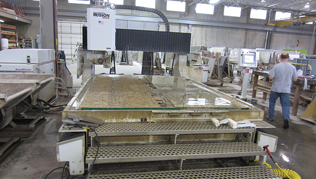 bridge saw/waterjet from Park Industries
