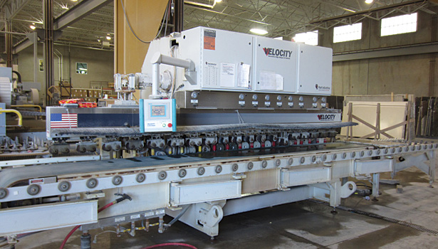 Velocity automated edging machine