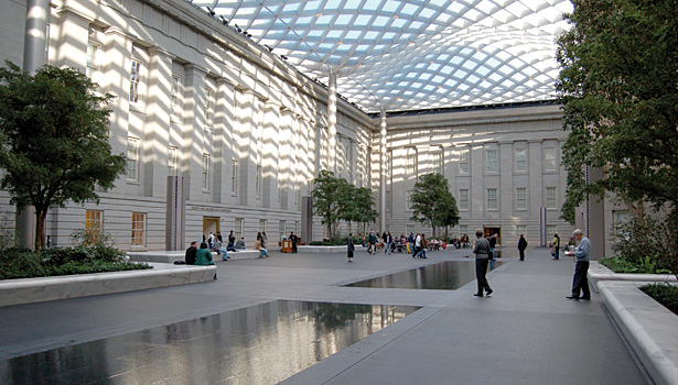 Kogod Courtyard at the Smithsonian Institute