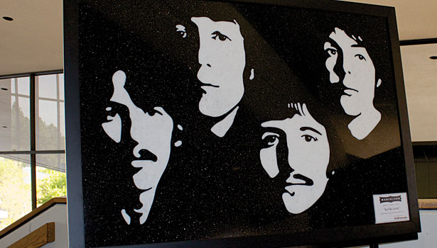 beatles portrait in stone