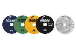 The new 3+1 polishing system pads from Disco
