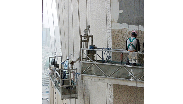 Al Hamra Tower construction