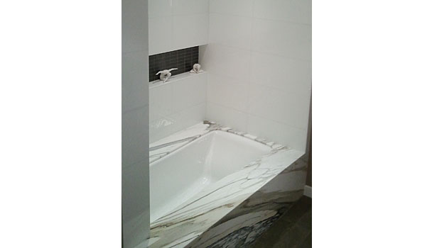 Paonazzo marble bathroom