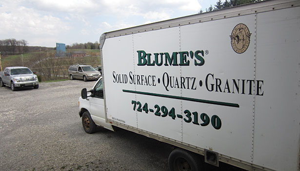 Blume's Solid Surface truck