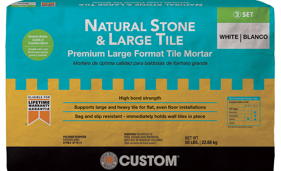 Natural Stone and Large Title Mortar