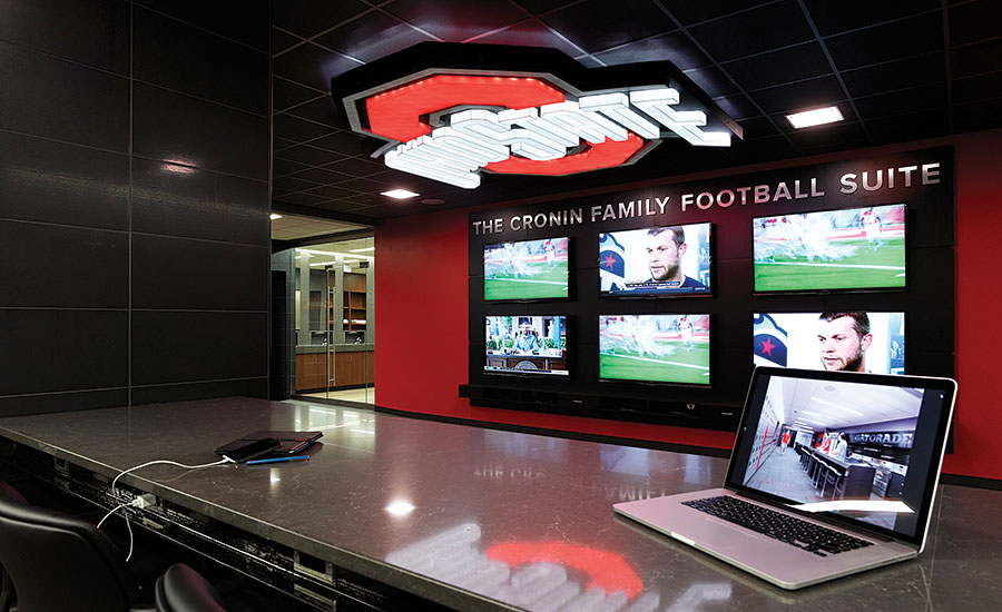 Ohio State University Locker Room Gets Quartz Design 2015 07 06 Stone World