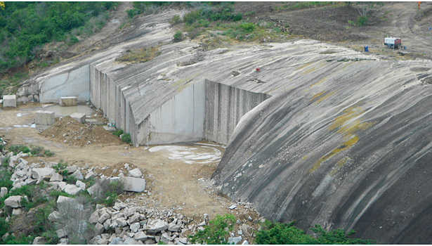 Giallo Yasmine (Giallo Humaitá) quarry