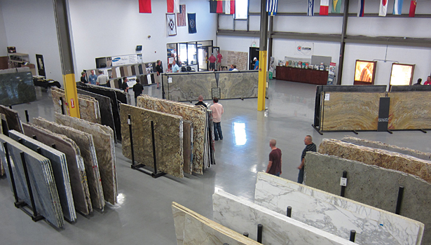 Arizona Tile's slab inventory