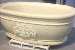 solid stone tub