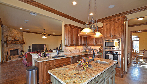 Grecian Marble and Granite redesigned kitchen