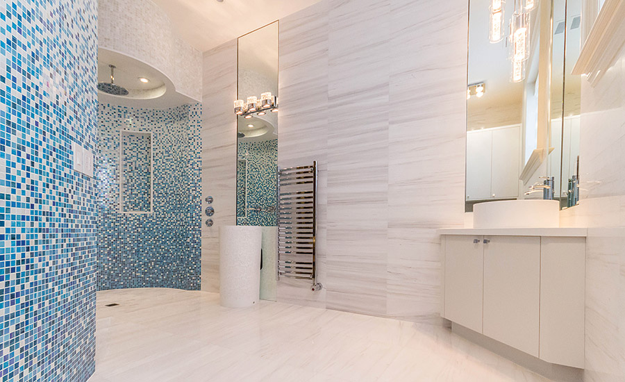 A downtown Toronto high-end residence uses a wide range of marble ...