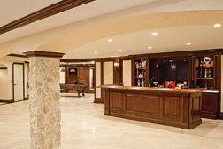 Italian-Mediterranean style basement