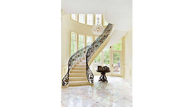 European-style grand staircase