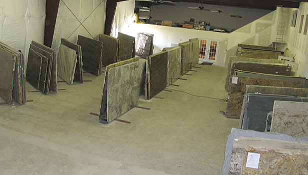 Custom Marble & Granite slab inventory