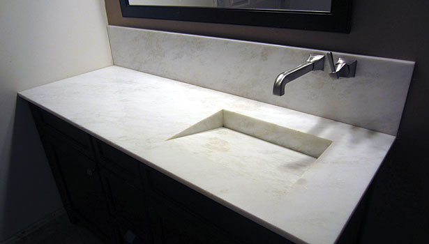 integrated miter sink