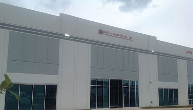 M S International, Inc.'s new distribution center in Dulles