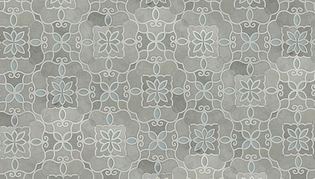 waterjet-cut damask pattern