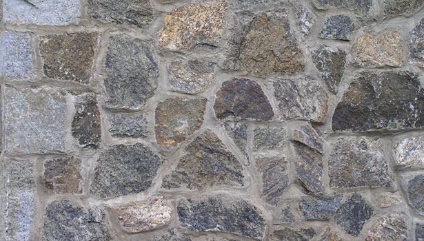 the stone walls were re-mortared over time