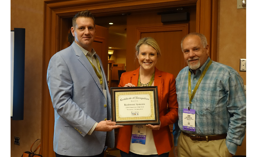 CEU program names Realstone Systems Educator of the Year