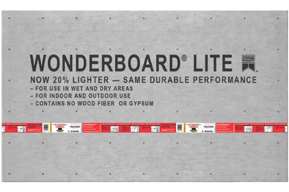 WonderBoard® backerboard lighter