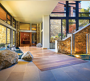 A Conscious Effort Was Made To Connect The Allison Inn Spas Interior Spaces With Outdoors In Addition Using Natural Materials Such As Stone