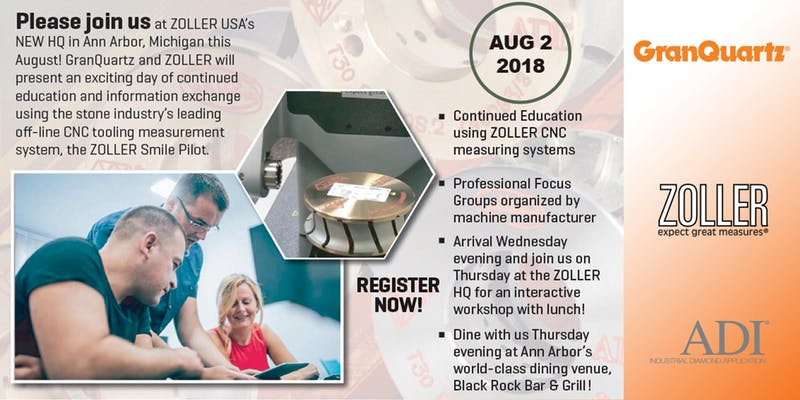 GranQuartz and Zoller CNC Tech Workshop | 2018-07-12 | Stone