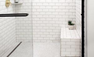 Quickdrain shower bench 1