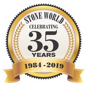 Stone World 35th Anniversary logo
